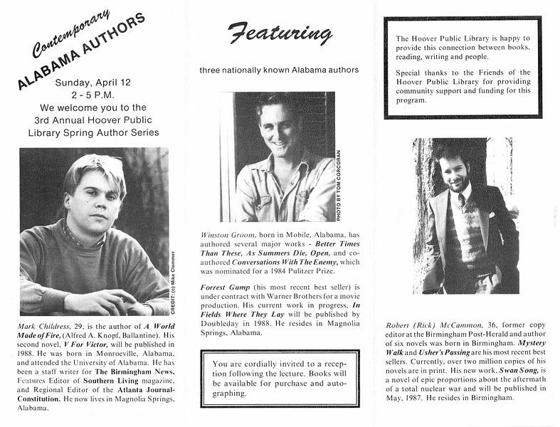 Contemporary Alabama Authors