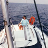 """Sailing vacation in Holland.<br /> Josie sailing a """"big boat"""" for the first time!"""