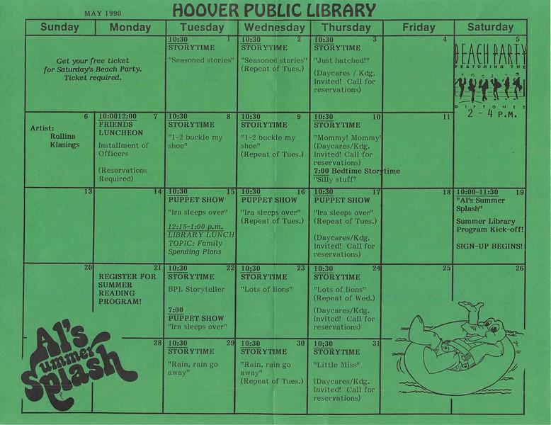 May 1990 Calendar