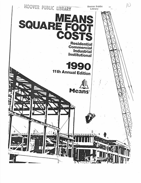 Means Square Foot Costs - 1990
