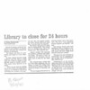 Library to close for 24 hours