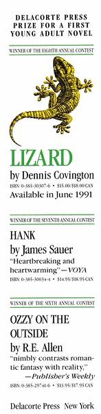 Lizard - Dennis Covington bookmark