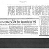 Hoover centers set for launch in '92