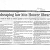 Landscaping law hits Hoover library
