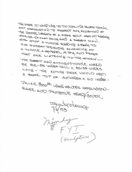 Frank Fleming Letter