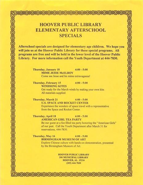Afterschool Specials
