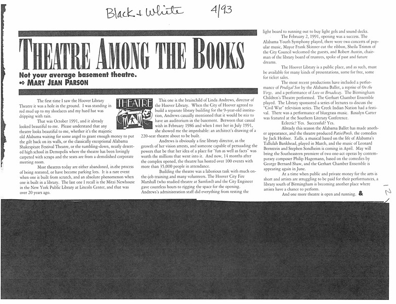 Theatre Among the Books
