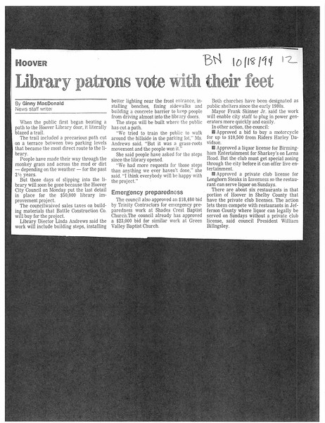 Library patrons vote with their feet