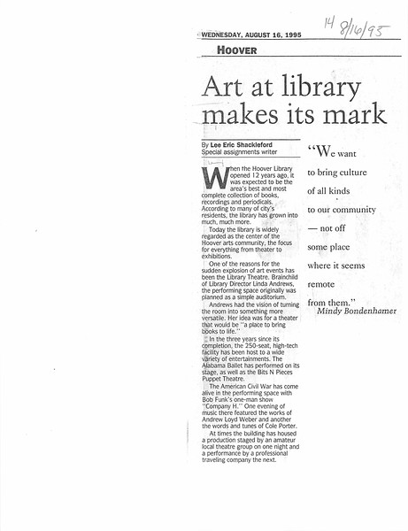Art at library makes its mark