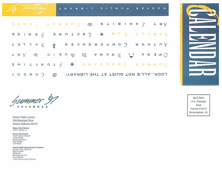 Summer '97 Calendar