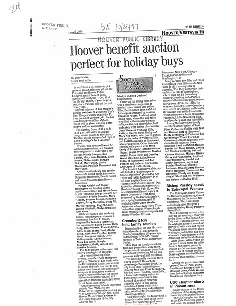 Hoover benefit auction perfect for holiday buys