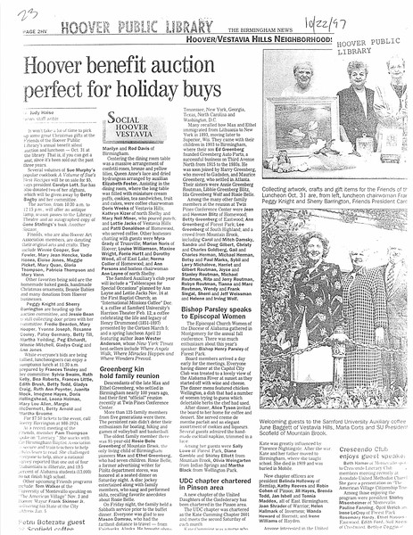 Hoover benefit aution perfect for holiday buys