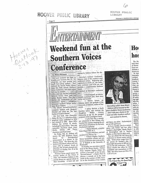 Weekend fun at the Southern Voices Conference