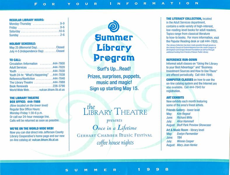 Summer '98 Calendar