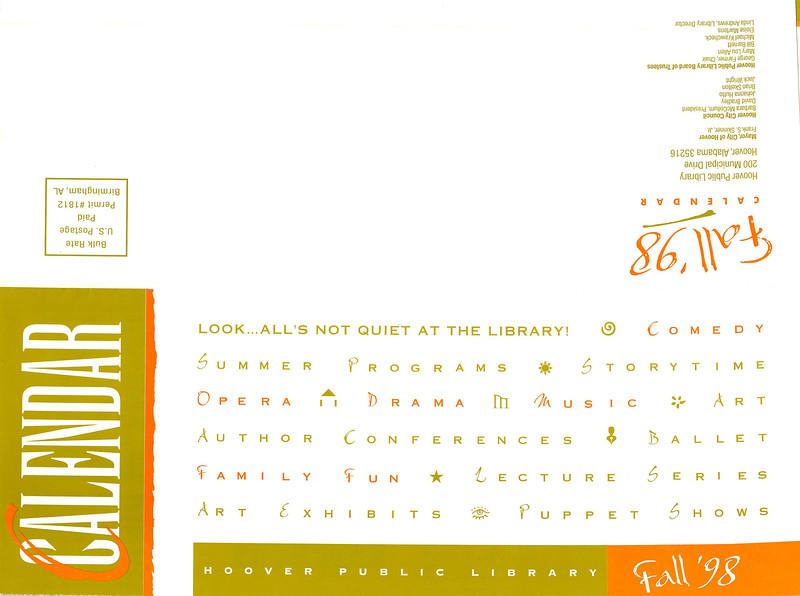 Fall '98 Calendar