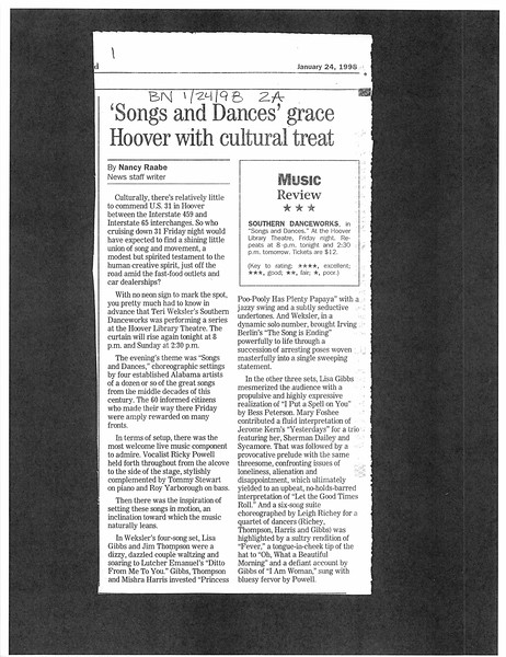 'Songs and Dances' grace with cultural treat