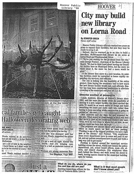 City may build new library on Lorna Road