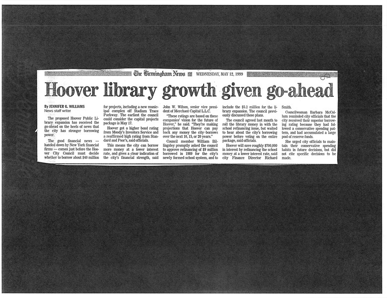 Hoover library growth given go-ahead