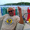 """Cruising Grenada<br /> Nick is very happy, he just finished sorting all the lines on """"Jedi"""""""
