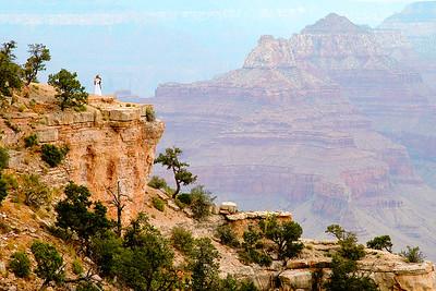 Robinson/Kimball wedding on the rim of the Grand Canyon, Arizona