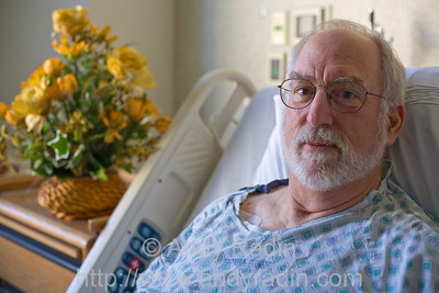My father, John Radin, in his hospital bed