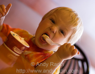 Jonah is very expressive when eating ice cream