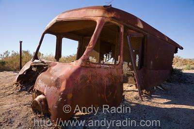 Half-buried truck at the Salton Sea, CA