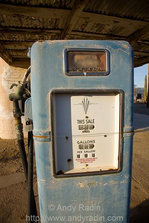 Abandoned gas station in Quartzite, AZ