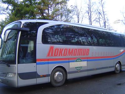 """Автобус команды """"Локомотив"""" (Ярославль)"""