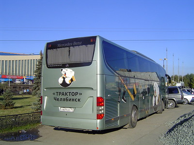 "Автобус команды ""Трактор"" (Челябинск)"