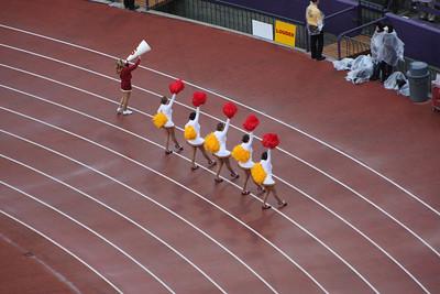 The USC cheerleaders