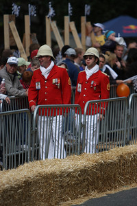 Not sure what they were going for, but they look like a cross between a mountie and a British constable