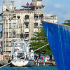 """IMG_0162.JPG<br /> The making of the """"A Quantum Solace"""" Bond movie in Panama.<br /> Filming from on high for a wide angle shot.  The camera team is visable above and to left of blue bow."""