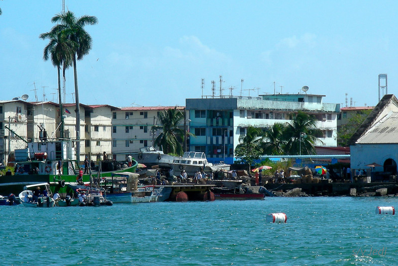"""IMG_0181.JPG<br /> The making of the """"A Quantum Solace"""" Bond movie in Panama.<br /> Pre-shooting hub-bub on shore side set."""