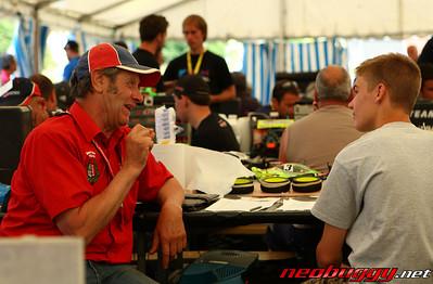 BRCA Team Manager Alan Dell dispensing some wisdom 2009 Euro B