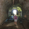 Visiting fort San Lorenzo with the Spirit crew<br /> An underground passage that runs the length of the fort.