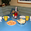 Nick's birthday<br /> Champagne and smoked salmon for breakfast!