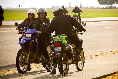Cops patrolling on dirt bikes