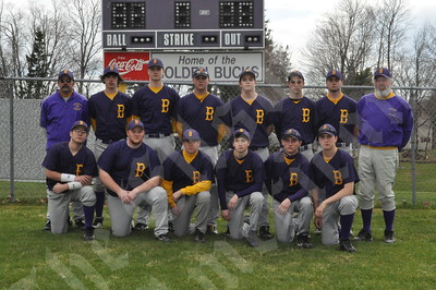 Members of the Bucksport Golden Buck boys include (front, from left) Anthony Hamlin, Mike Bridges, Billy DeRedin, Cody Farrell, Tyler French and James Potter; and (rear, from left) assistant coach Rob Wadleigh, Mike Cummings, Evan Eldridge, Tim Nason, Cody Davis, Ryan Bailey, Tyler McAllian and coach Mike Cowing.