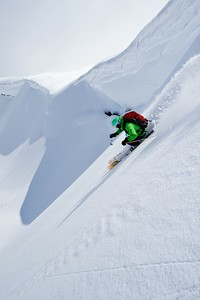 Adam Roberts, Adam U and Dean Collins taking advantage of some late winter powder skiing in the North Cascades, WA.