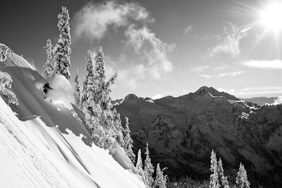 Skiing around the backcountry of Mount Baker, WA with David Hancock, John Wells and Adam Roberts
