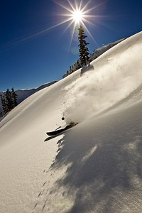 Powder in the late afternoon