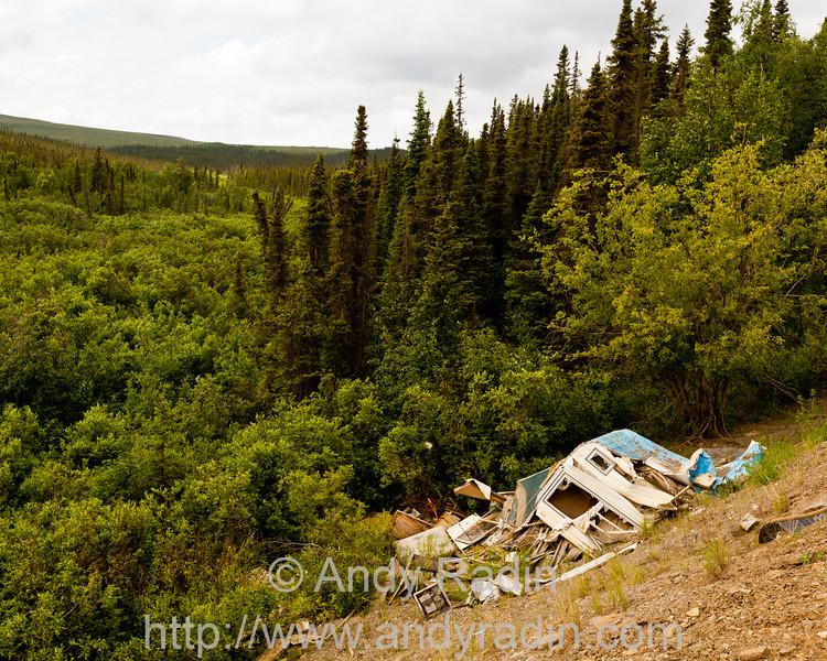 Wrecked Camper
