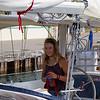 Laura Dekker arrives in Colon, Panama