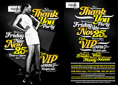"""11/25/11 Natural Freaks """"Thank You Party"""""""