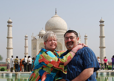 My mom and dad on a recent trip the Taj Mahal in India!