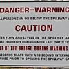 Gatun dam warning sign.