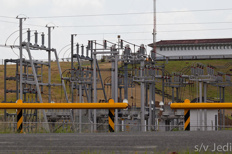 Gatun dam power station.