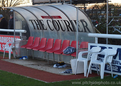 The dugout - Leamington v AFC Totton, Southern League, The New Windmill Ground, Leamington - 1/12/12 - ©Paul Paxford/Pitchside Photo. No unauthorised use. Contact Pitchsidephotography@gmail.com