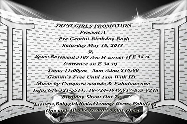 05/18/13 Gemini Birthday Bash